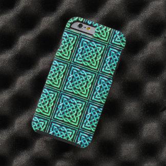 Den Celtic fnurran - kvadrera blåttgrönt Tough iPhone 6 Skal