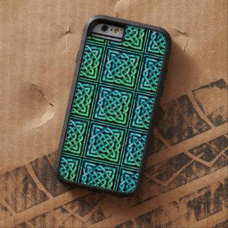 Den Celtic fnurran - kvadrera blåttgrönt Tough Xtreme iPhone 6 Skal