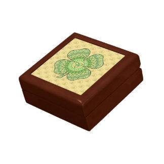 Den Celtic shamrocken belägger med tegel boxas Minnesask