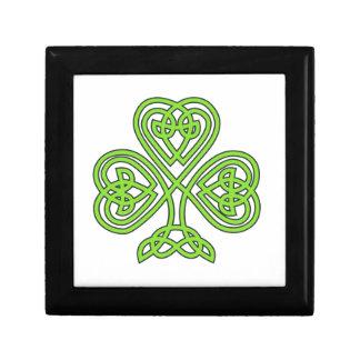 Den Celtic shamrocken boxas Smyckeskrin