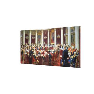 Den ceremoniella sitta av det statliga rådet canvastryck
