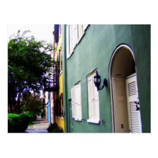 Den Charleston regnbågen ror hus Vykort