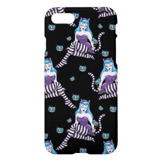 Den Cheshire katten klämmer fast upp flickaiphone iPhone 7 Skal