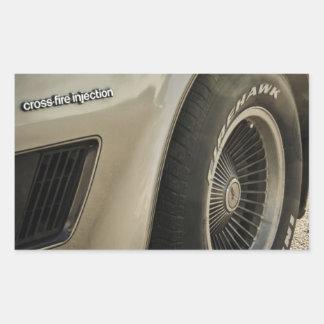 Den Chevrolet Corvette samlare rullar upplaga 1982 Rektangulärt Klistermärke
