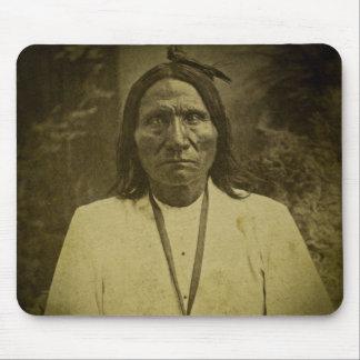 Den Cheyenne indier spanar det vintageStereoview k Musmatta