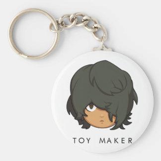 Den Chibi leksaktillverkare knäppas Keychain Rund Nyckelring