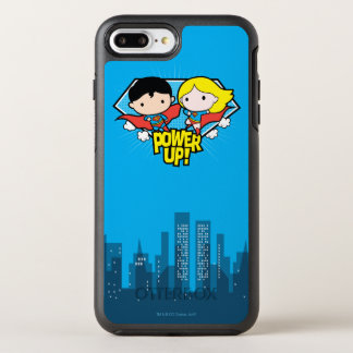 Den Chibi stålmannen & Chibi Supergirl driver upp! OtterBox Symmetry iPhone 7 Plus Skal