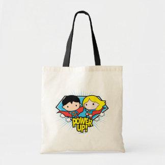 Den Chibi stålmannen & Chibi Supergirl driver upp! Tygkasse
