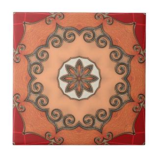 Den chic romantiska blom- geometriska designen kakelplatta