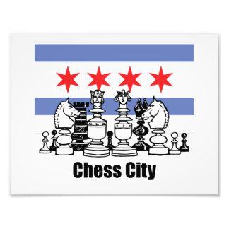 Den Chicago flagga & schacket stiger ombord Fototryck