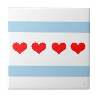 Den Chicago hjärtaflagga belägger med tegel Liten Kakelplatta