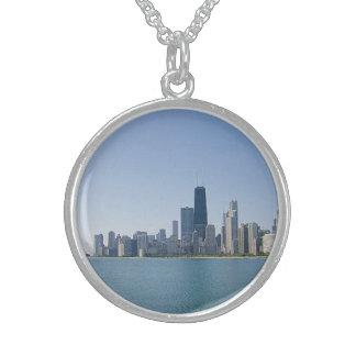 Den Chicago horisonten Sterling Silver Halsband