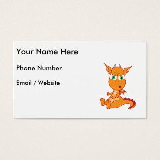 Den chockade draken skapar ett enfaldigt ansikte visitkort
