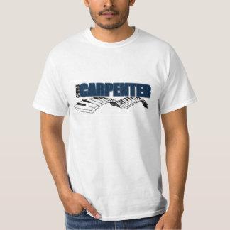 Den Chris snickaren/pianot stämm T-tröja, vit T Shirt