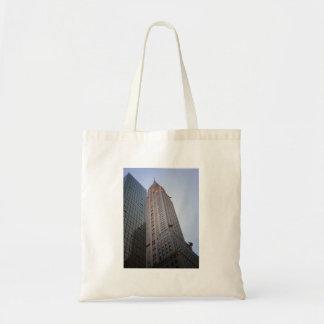 Den Chrysler byggnaden på skymningen, New York Tygkasse