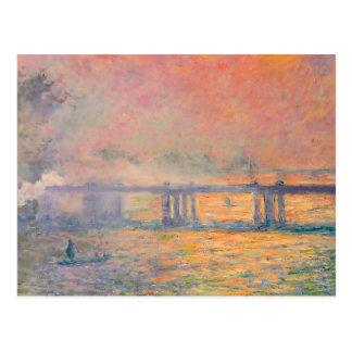 Den Claude Monet Charing kor överbryggar Vykort