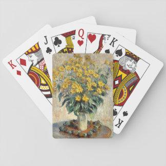 Den Claude Monet Jerusalem kronärtskockan blommar Spel Kort