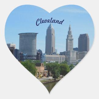 Den Cleveland floden beskådar klistermärken