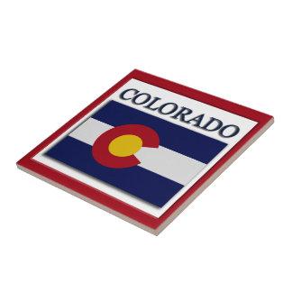 Den Colorado flaggadesignen belägger med tegel Kakelplatta