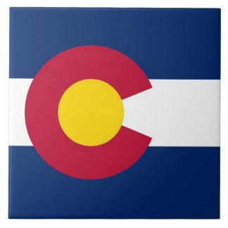 Den Colorado statlig flagga belägger med tegel Kakelplatta