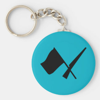 Den Colorguard flagga & geväret knäppas Keychain Rund Nyckelring