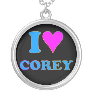 Den Corey tiger80-tal älskar jag det Corey Halsband Med Rund Hängsmycke