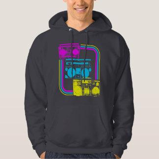 Den Corey tiger80-tal Retro Boombox radiosände Sweatshirt Med Luva