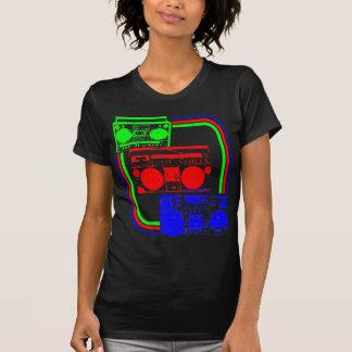 Den Corey tiger80-tal Retro Boombox radiosände T-shirts