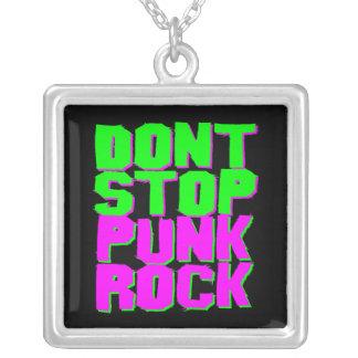 Den Corey tiger80-tal stoppar inte det Punk Halsband Med Fyrkantigt Hängsmycke