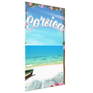 Den Corsica stranden reser affischen Canvastryck
