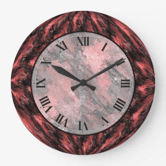 Den Crimson röda Fauxmarmorväggen tar tid på Stor Klocka