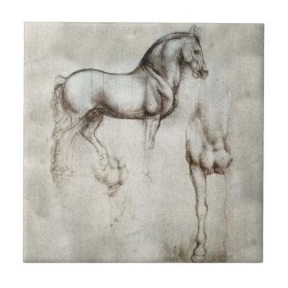 Den Da Vinci hästen belägger med tegel Liten Kakelplatta