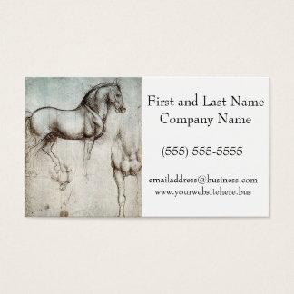 Den Da Vinci studien av en häst ritar teckningen Visitkort