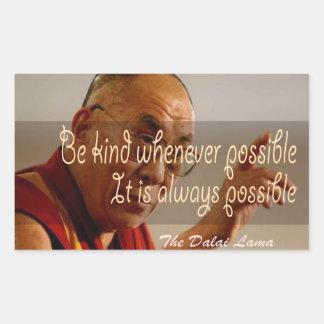 Den Dalai Lama klistermärken