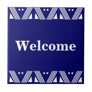 Den Deco välkomnandet undertecknar Kakelplatta