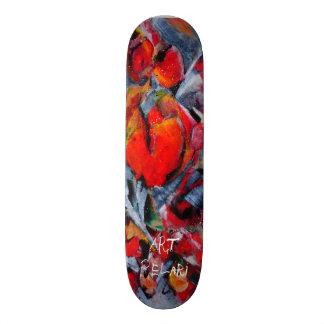 den designade skridskon stiger ombord vid konst skateboard bräda 21,5 cm