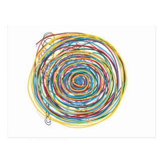 den digitala designen cirklar 160602 vykort