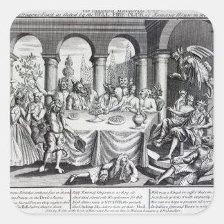 Den djävulska maskqueraden fyrkantigt klistermärke