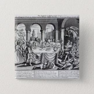 Den djävulska maskqueraden standard kanpp fyrkantig 5.1 cm