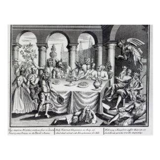 Den djävulska maskqueraden vykort