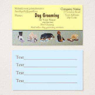 den djuromsorg hunden som ansar och, servar visitkort