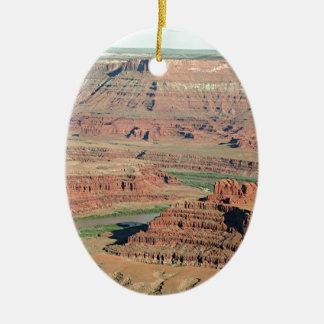 Den döda hästen pekar delstatsparken, Utah, USA 4 Julgransprydnad Keramik