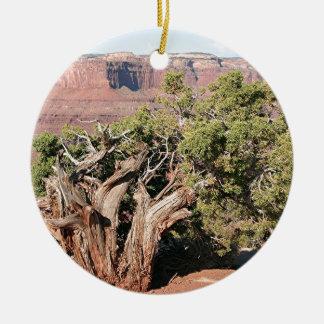 Den döda hästen pekar delstatsparken, Utah, USA 9 Julgransprydnad Keramik