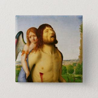 Den döda Kristus som stöttas av en ängel, c.1475/7 Standard Kanpp Fyrkantig 5.1 Cm