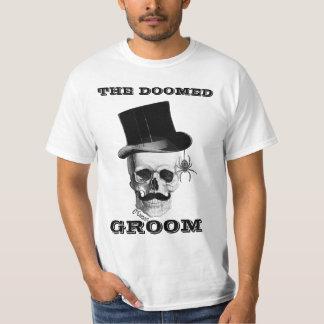 Den doomed roliga bröllopdesignen för brudgum tröjor