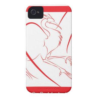 Den Dormant Phoenix björnbäret täcker iPhone 4 Case-Mate Skydd