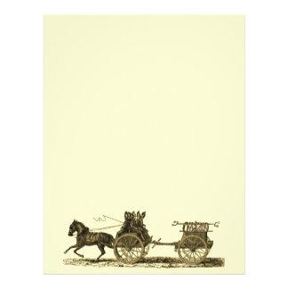Den drog vintagehästen avfyrar motorillustrationen reklamblad