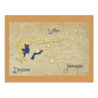 Den dröm- wishen föreställer vykort