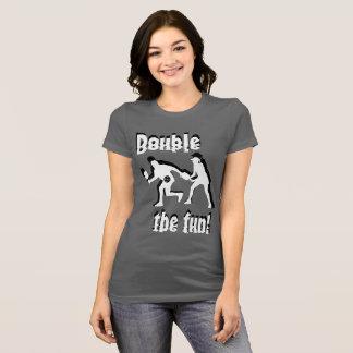 Den dubbla roligten! t shirt