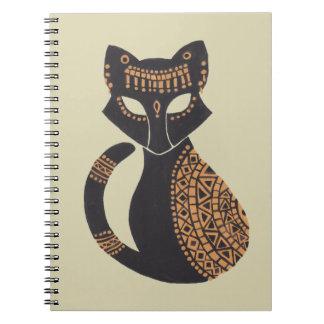 Den egyptiska katten anteckningsbok med spiral